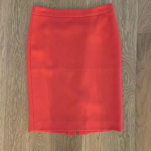 J Crew No 2 Pencil Skirt in double serge Wool